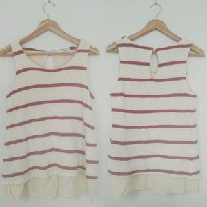 NWT Splendid Striped Loose Knit Double Layer Tank
